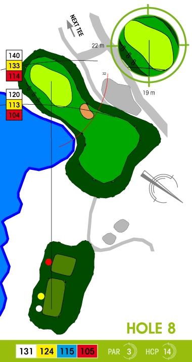 E-S Golf väylä 8
