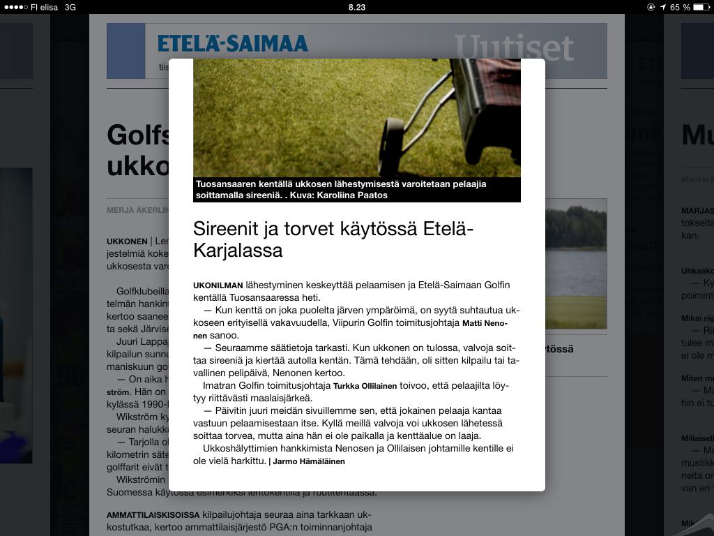 ukkonen_artikkeli_ja_Etela-Karjalan_tilanne